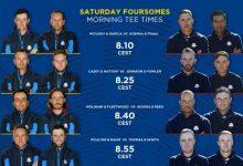 Sergio y Rahm jugarán los fourballs ante unos EE.UU. que se encomiendan al grupo del viernes
