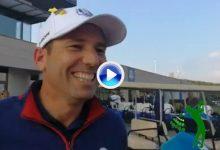 """Sergio García, tras vencer 5&4 en los foursomes: """"Espero que Seve esté orgulloso de mí"""" (VÍDEO)"""