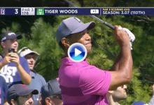 Tiger se marchó el sábado del TPC Boston con unos excelentes 66 golpes. Este es el resumen (VÍDEO)