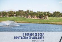 Todo a punto para que dé comienzo el II Trofeo de Golf Diputación Alicante con el cartel de completo