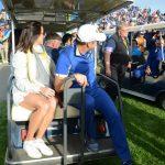 23 Subido al buggie con su esposa Ángela. Foto OpenGolf