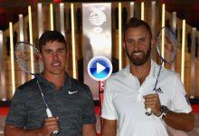 Rory, Molinari, Rose, Koepka y DJ disfrutaron de un partido de bádminton en la previa del HSBC (VÍDEO)