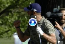 ¡De la pinaza al hoyo! Trahan convirtió esta delicia de approach para un eagle inesperado (VÍDEO)