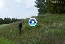 El golpe imposible de Poulter en Corea. Llevó la bola a green con su bola entre la maleza (VÍDEO)