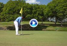 Nuevas Reglas de Golf (10): Se podrá jugar la bola en green con la bandera puesta en el hoyo (VÍDEO)