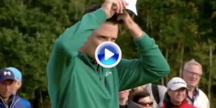 El Golf es duro… Justin Rose sufrió en sus carnes al viento en el pasado British Masters (VÍDEO)