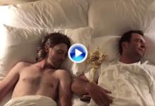 """Molinari y Fleetwood bromean despertándose en la cama tras una """"semana de pasión"""" (Inc. VÍDEO)"""