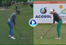 Azahara Muñoz y Elia Folch se lucieron con dos grandes golpazos en el Open de España (VÍDEO)