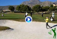 El Golf es duro… Miguel Ángel Jiménez vio frenada su vuelta en seco tras estos dos errores (VÍDEO)