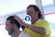 ¿Problemas con el pelo, Tommy? Jiménez ayudó al jugador inglés haciéndole una coleta (VÍDEO)
