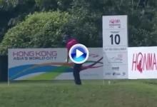 ¡Wow! Sergio provocó el asombro en Hong Kong con este drive perfecto directo a green (VÍDEO)