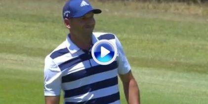 Sensacional tirazo de Sergio García en el 6 desde 140 metros. La bola picó a 4 dedos del hoyo (VÍDEO)
