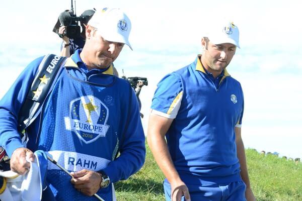 Jon y Adam en la jornada del domingo ante Tiger. Foto OpenGolf.es