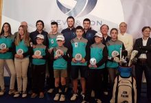 La magia de Ballesteros y el duende de Rahmen el 'Seve & Jon golf for kids' celebrado en Meaztegi Golf