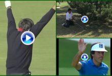 El eagle en Augusta, la magia de Suiza y el de rodillas en Francia (VÍDEO)