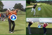El swing a cámara lenta de Rahm, Jiménez y Postigo, campeón golf adaptado (VÍDEO)