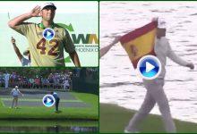 Lo + visto del '18: Elvira con su bandera de España, Olazábal y Rahm hicieron rugir al público (VÍDEO)