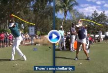 Pegador vs pegadora: Compare el swing a cámara lenta de Bubba Watson y Lexi Thompson (VÍDEO)