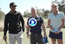 Lexi Thompson y Tony Finau se retaron en un cara a cara utilizando solo un palo de su bolsa (VÍDEO)