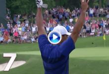 Los 10 mejores golpes del 2018 para el PGA Tour (7): Así desató la locura Tiger en Muirfield (VÍDEO)