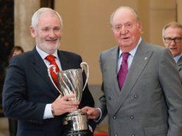 Rahm, galardonado en los Premios Nacionales del Deporte. Recogió la distinción su padre Edorta
