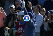 Con este eagle Rory irrumpe en el Top 10 del Farmers y suma el Golpe del Día de la 2ª j. (VÍDEO)