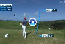 Línea de la bola, velocidad, altura… Lo mejor desde el tee visto por el Toptracer, incluido Rahm (VÍDEO)