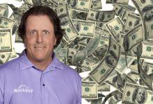 Mickelson superó los 90 Mill. de $ en ganancias con su última victoria. Solo Tiger alcanzó esa cifra