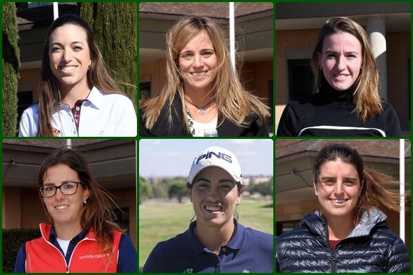 De izqda. a dcha. y de arriba a abajo, Silvia Bañón, Noemí Jiménez, Elia Folch, Mireia Prat., Carmen Alonso y Patricia Sanz