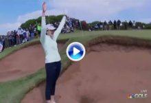 Kim Kaufman fue la autora del golpe de la semana en el Vic Open con esta sacada de bunker (VÍDEO)