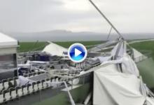 Una tormenta daña la infraestructura de Pebble Beach a pocos días del inicio del torneo (VÍDEO)
