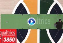 Un fan de los Jazz gana casi 9.000$ tras embocar 5 putts seguidos en una cancha de basket (VÍDEO)