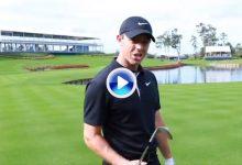 Rory intentó llevar la bola al temible green del 17 de Sawgrass con todos los palos de su bolsa (VÍDEO)
