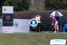 El Golf es duro… Silvia Bañón: de ganar un coche a irse al agua. No se puede tener peor suerte (VÍDEO)