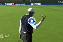 Y el público volvió a rugir con Tiger con este putt desde 7 mts. que servía para pasar el corte (VÍDEO)
