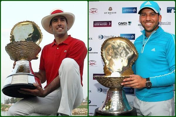 Álvaro Quirós, en el campo esta semana, y Sergio García, son los dos españoles que saben lo que es ganar en Qatar