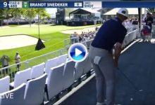 Gran recuperación de Brandt Snedeker desde una carpa de hospitalidad entre fans, comida y cervezas