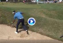 El Golf es duro… Bubba cede el partido en el 18 a Na después de no poder sacar la bola del bunker
