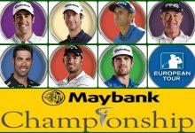 Jiménez y Arnaus en el Tee de salida del Maybank Champ. de Malasia al que acuden otros 5 españoles