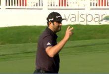 ¡Que fácil es esto del Golf! Al menos para Jon Rahm, que jugó de forma perfecta el 14 en Innisbrook