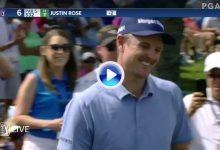 Esta joya de Justin Rose en forma de approach, es sin duda uno de los grandes golpes en Bay Hill