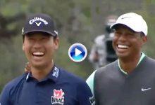 Tiger Woods imita a Kevin Na y nos deja el instante más divertido en lo que llevamos de PLAYERS