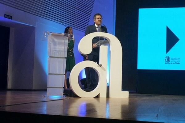 Juanjo Castelló durante la gala de los XXXV Premios Provinciales del Deporte entregados en el pasado 2018. Foto: OpenGolf.es