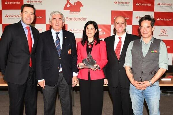 En la imagen, de izquierda a derecha, Felipe Martín, Gonzaga Escauriaza, Adela Martín, Iñigo Aramburu y Jorge Sanz