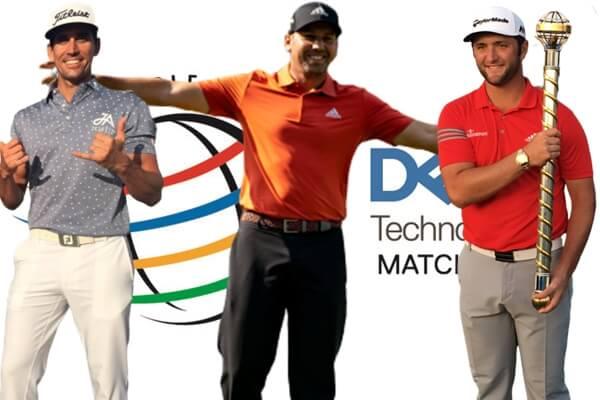 Rafa Cabrera Bello, Sergio García y Jon Rahm en el Dell Match Play
