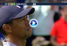 El Golf es duro… Tiger Woods se fue dos veces al agua en el 17. Así fue el cuádruple bogey en la isla