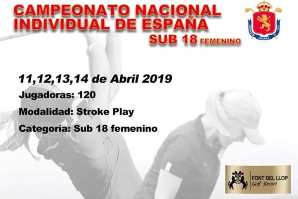 Cartel que anuncia el Campeonato de España Sub 18 Femenino