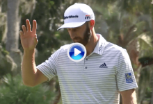 Dustin Johnson estaba on fire en Harbour Town. ¡Qué purito de 14 metros para sacar el birdie!