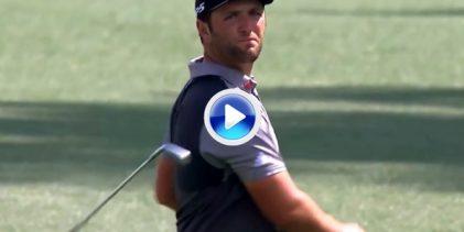 El Golf es duro: Jon Rahm sufrió en sus carnes la presencia del innombrable socket en el hoyo 8
