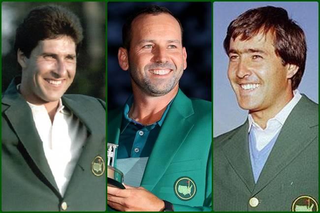José María Olazábal, Sergio García y Seve Ballesteros campeones Masters Augusta